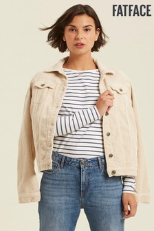 FatFace Natural Tanya Cord Jacket