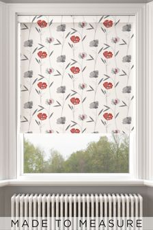 Izzy Rouge Red Floral Made To Measure Roller Blind