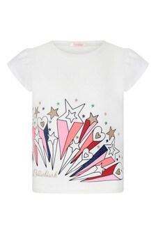 Girls Ivory Jersey T-Shirt