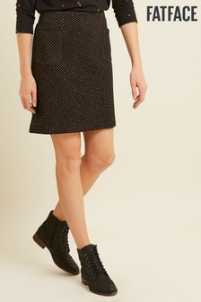 FatFace Black Jennie Star Jacquard Skirt