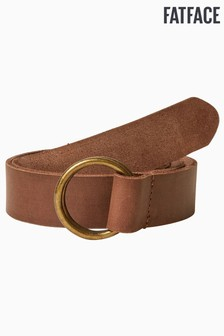 FatFace Brown Hoop Detail Waist Belt