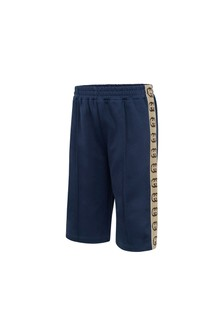 Baby Boys Blue Technical Jersey Shorts