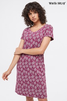 White Stuff Purple Selina Fairtrade Dress