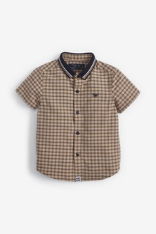 Short Sleeve Shirt With Jersey Collar (3mths-7yrs)
