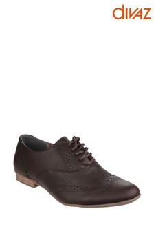 Divaz Brown Levato Lace-Up Brogue Shoes