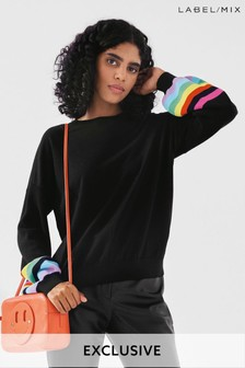 Mix/Madeleine Thompson Stripe Sleeve Jumper