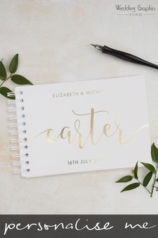 Personalised A5 Script Wedding Book by Wedding Graphics