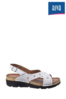 Riva White Serafina Wedge Sandals