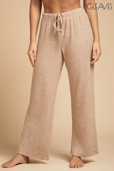 Figleaves Camel Lounge Super Soft Wide Leg Trousers