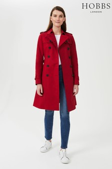 Hobbs Red Petite Saskia Trench Coat