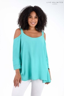 Live Unlimited Jade Green Bardot Top