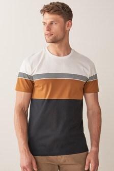 Colourblock Mercerised T-Shirt