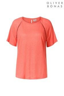 Oliver Bonas T-Shirt mit Häkelborte