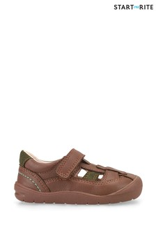 Start-Rite Bumble Brown Leather First Steps Shoes