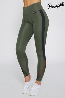 Pineapple Interlock Racer Mesh High Waisted Leggings
