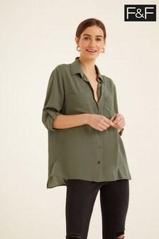 F&F Green Two Pocket Shirt