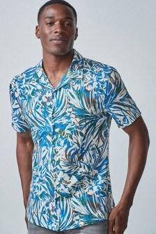 Leaf Print Regular Fit Shirt