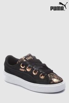 Puma® Black Metallic Toe Platform Classic
