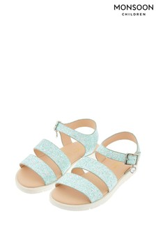 Monsoon Mint Edie Frosted Glitter Sandals
