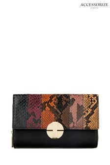 Accessorize Animal Snake Effect Large Wallet