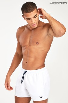 Emporio Armani White Swim Shorts