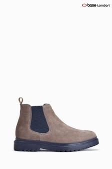 Base London Grey Batali Suede Chelsea Boots