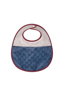 Baby Boys Navy Nylon Bib