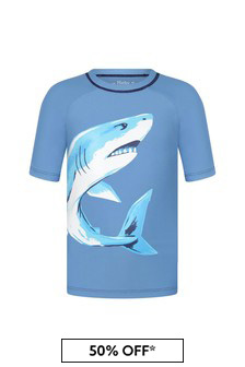 Hatley Blue Deep Sea Shark Short Sleeve Rashguard