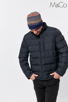 M&Co Men Blue Padded Jacket