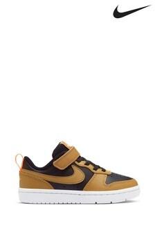 Nike Tan/Black Court Borough Low Junior Trainers