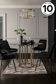 Gold Arch 4 Seater Round Dining Table