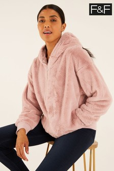 F&F Pink Faux Fur Jacket