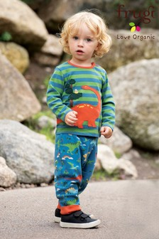Frugi Organic Reversible Soft Waistband Pull-Up Trousers