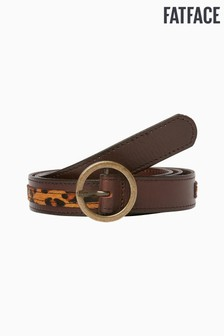 FatFace Brown Leopard Belt