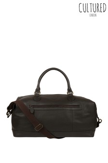 Cultured London Harbour Leather Holdall