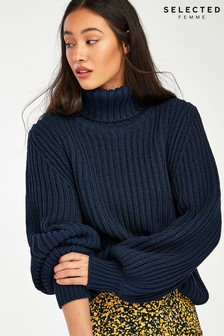 Selected Femme Dark Navy Femmi Balloon Jumper