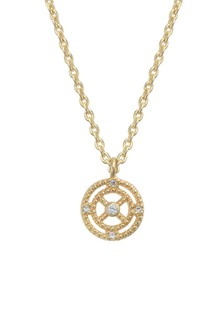 Oliver Bonas Gold Plated Outline & Stone Necklace