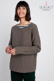 Seasalt Petite Fruity II Truffle Jumper