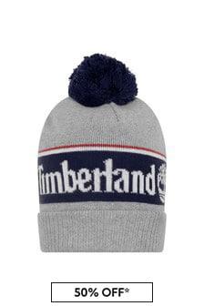 Timberland Boys Grey Cotton Bobble Hat