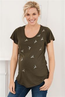 Maternity Embroidery T-Shirt