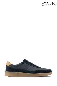 Clarks Navy Combi Oakland Run Shoes