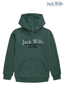 Jack Wills Boys Green Hoodie