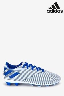 adidas White P4 Nemeziz FG Junior & Youth Football Boots