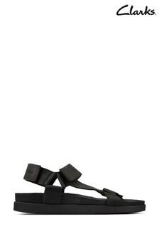 Clarks Black Nubuck Sunder Range Sandals