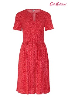 Cath Kidston® Red Scattered Spot Tea Dress
