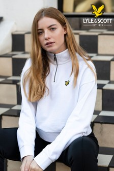 Lyle & Scott Womens Cropped 1/4 Zip Sweatshirt