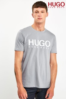 HUGO Grey Doli Logo T-Shirt