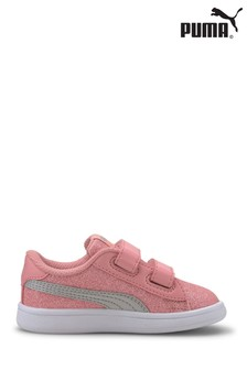 Puma® Infant Smash v2 Glitz Glam Velcro Trainers