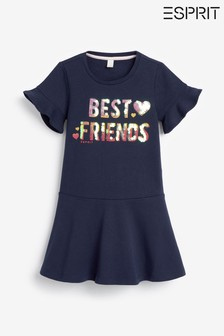 Esprit Navy Sequin Best Friends Dress