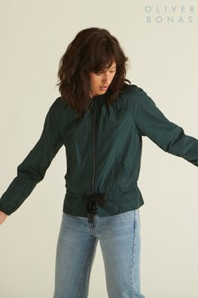 Oliver Bonas Green Genuine Bomber Jacket